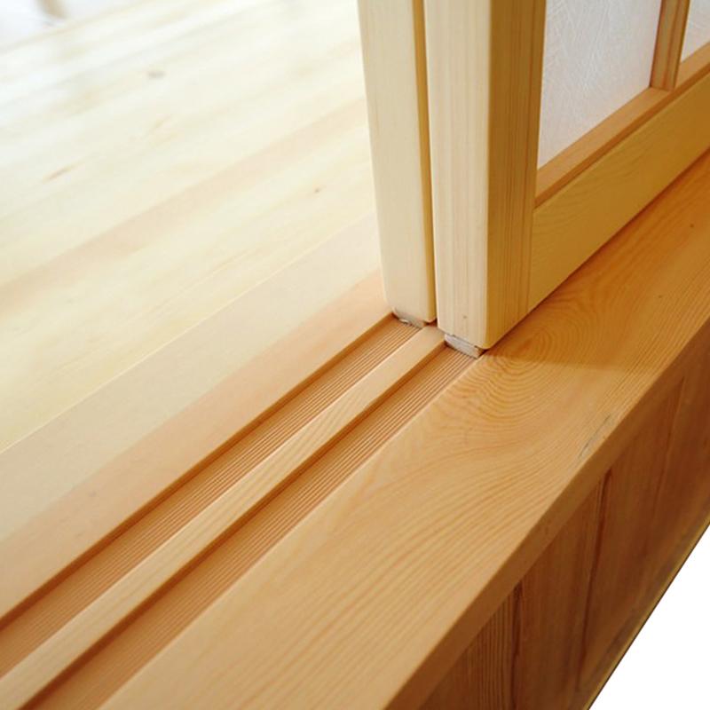 Custom Japanese Style Lattice Door Door Track Solid Wood