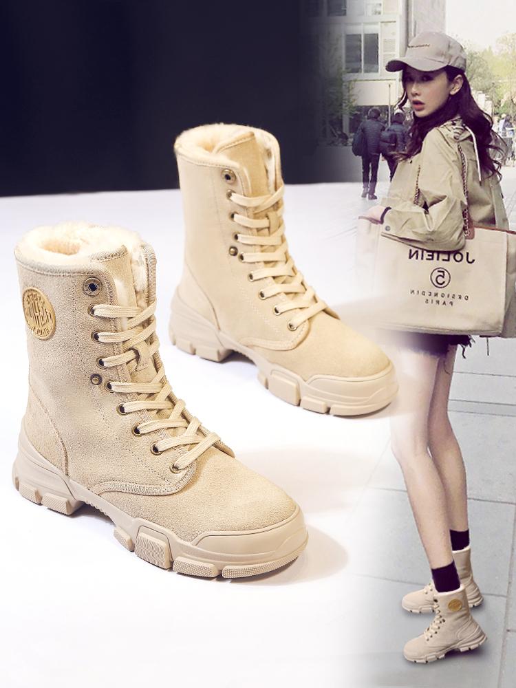 马丁靴雪地靴女2020新款秋冬加绒爆款网红保暖冬防滑鞋棉靴棉鞋