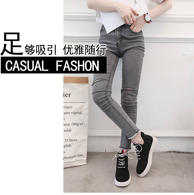 New single casual high-top round ankle boots 62