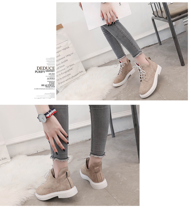 New single casual high-top round ankle boots 70