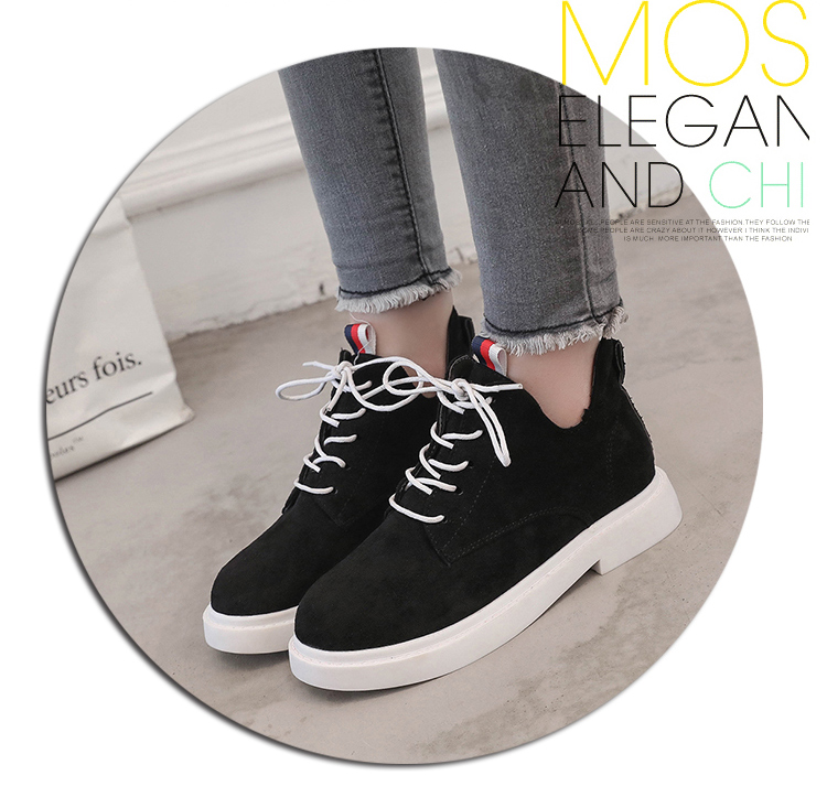 New single casual high-top round ankle boots 75