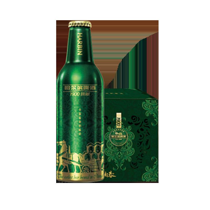 哈尔滨1900臻藏啤酒355ml*12瓶