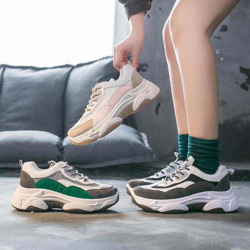 百搭老爹鞋女2020春季新款ins运动鞋女学生韩版街拍增高休闲鞋女