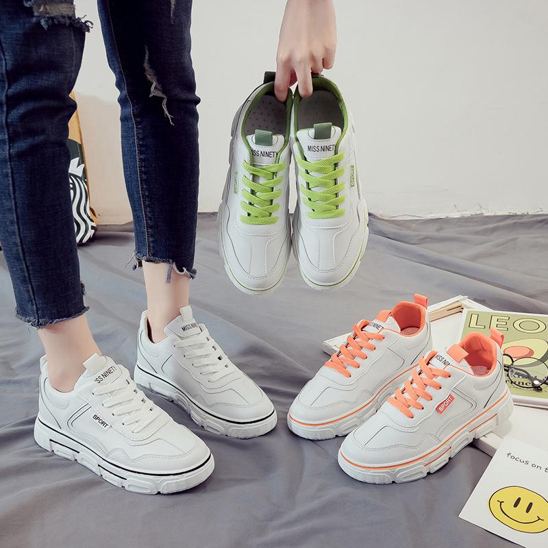2020春季新款韩版小白鞋女学生百搭增高板鞋平底ins休闲鞋女鞋子