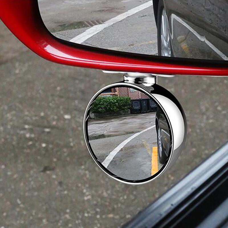 小车后视镜小圆镜汽车前轮镜广角360盲区倒车镜v小车镜盲点反光镜