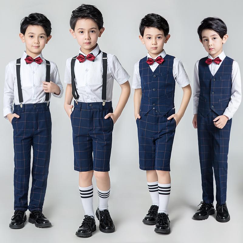 小礼服领结英伦风男童礼服套装夏装钢琴小学生男宝宝表演演出服
