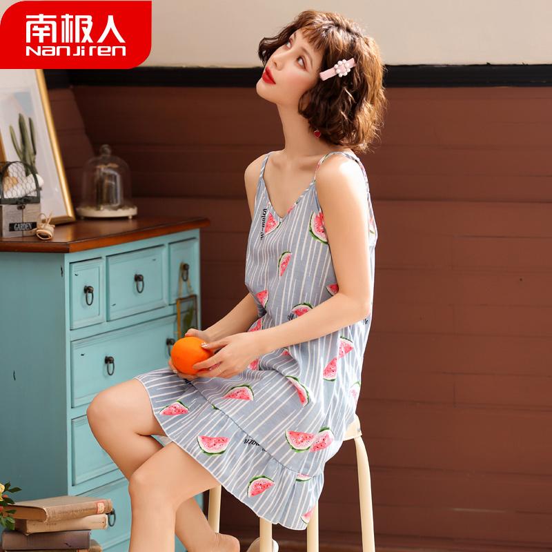 【南极人】夏季吊带睡裙纯棉家居服