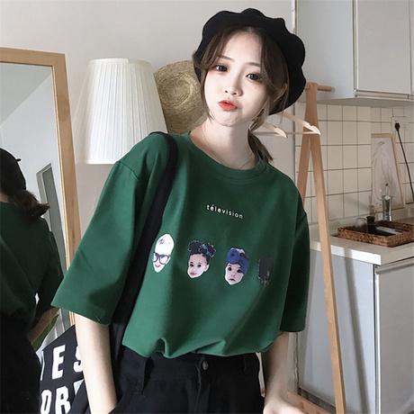 | Цена 469 руб | Чистый красный ins превышать пожар короткий рукав t футболки женщина летний костюм 2020 новый корейский свободный харадзюку парень ленивый ветер куртка одежда волна