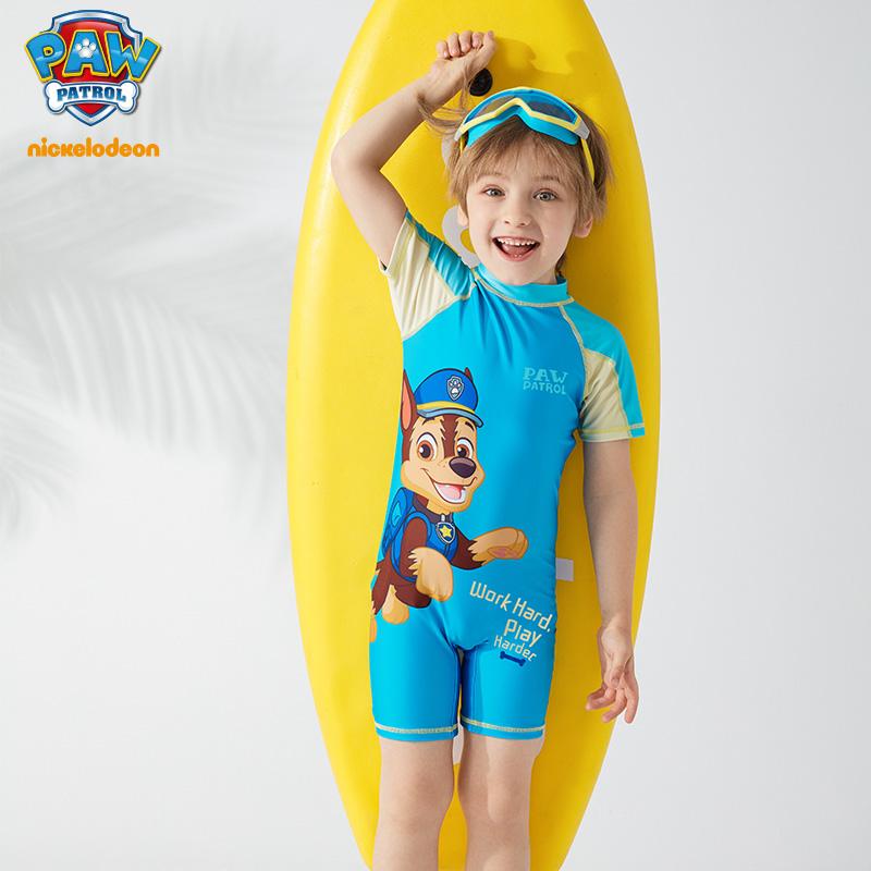 汪汪队儿童连体泳衣卡通可爱套装