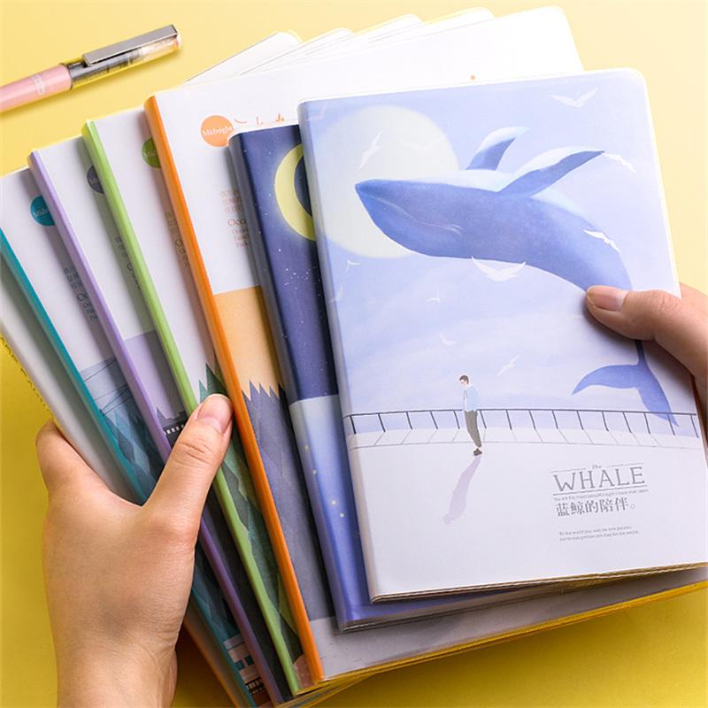 【广博】4本装超厚记事本软面抄胶套本