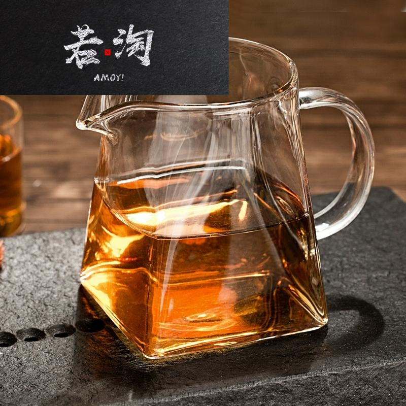 Kung Fu tea set tea sea glass accessories tea leak fair cup heat-resistant high temperature thickened tea equipment tea equipment accessories quartet.
