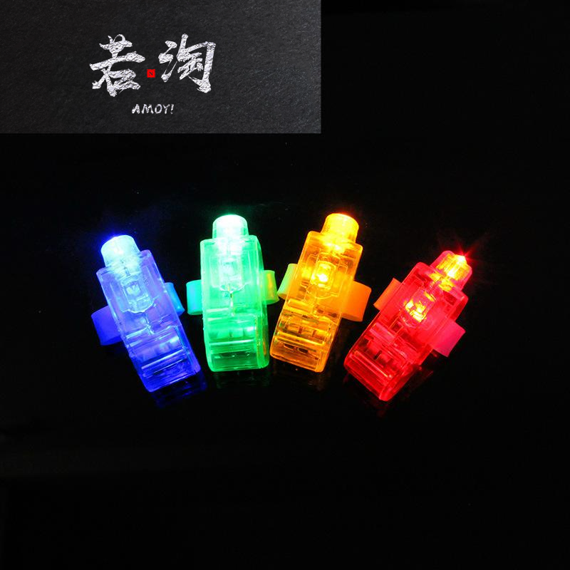Colorful finger lamp laser finger light LED light-emitting ring performance dance bar finger light glow ingon toys can be customized