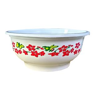 一次性餐碗圆形注塑花碗打包盒碗婚庆加厚塑料碗饭盒外卖硬碗无盖