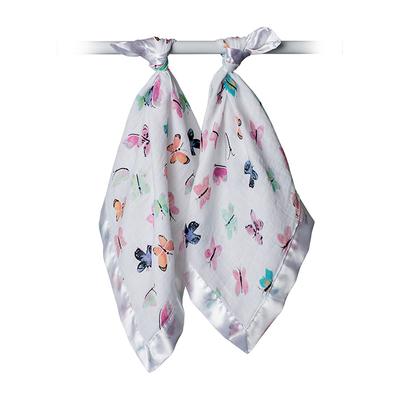 加拿大进口Lulujo新生婴儿口水巾 宝宝纯棉纱布洗脸手帕小方毛巾