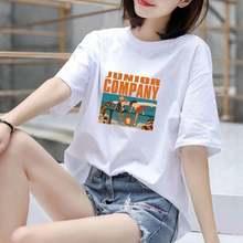 一件两件100%纯棉大码短袖t恤女夏装韩版宽松显瘦白色半袖上衣服