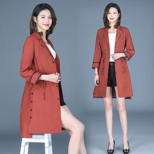新款女风衣中长款修身收腰韩版外套