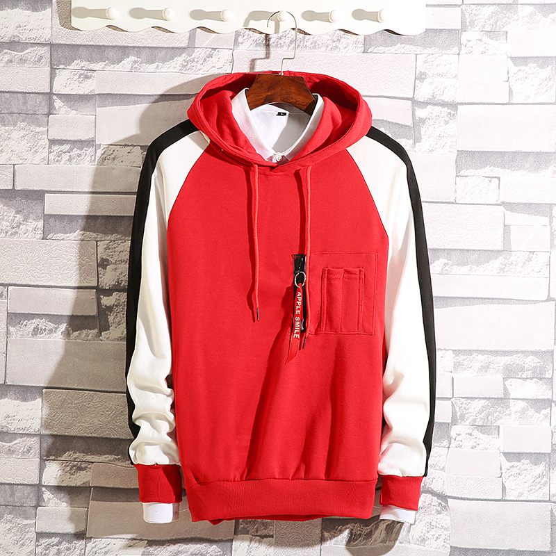 Men's hooded hooded Korean version of the trend Hong Kong wind ins spring and autumn long-sleeved loose-fitting young student men's jacket 54 Online shopping Bangladesh