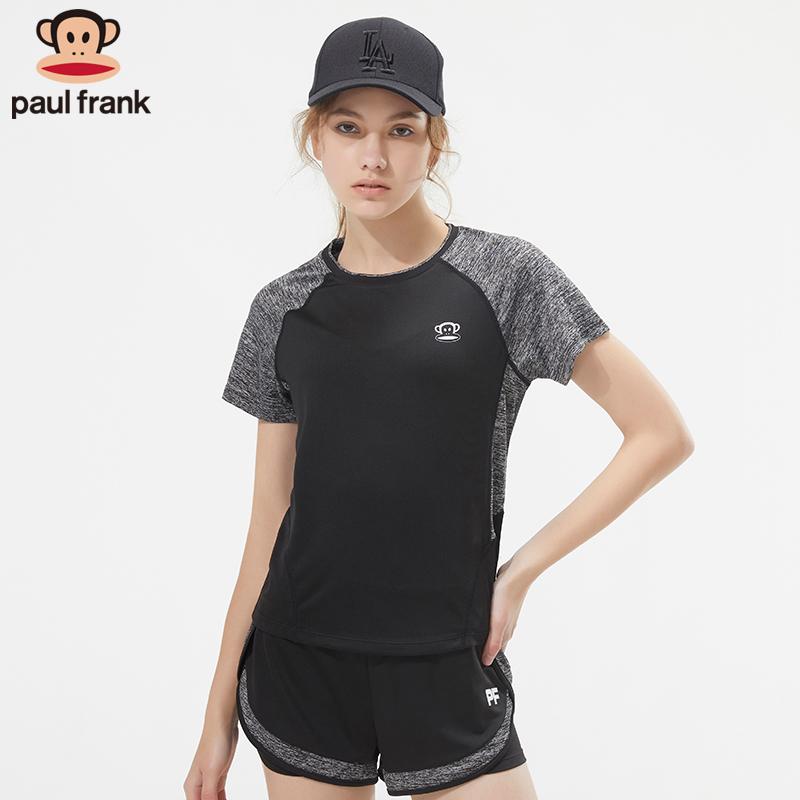 Paul Frank/大嘴猴跑步運動套裝女2019新款速干健身房瑜伽服套裝
