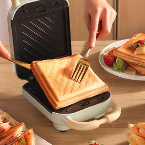 日本三明治早餐机家用小型多功能三文治华夫饼机轻食烤吐司机神器
