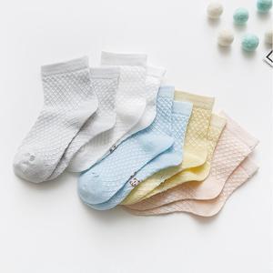 【5双装】儿童纯棉刺绣网眼透气袜