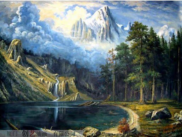 純手繪油畫/無框畫 喬遷 家居裝飾畫 客廳古典/寫實 風景油畫特價