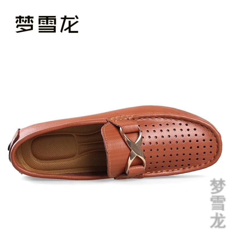 秋轻便真皮鞋男商务英伦套脚潮鞋青年皮鞋帆船休闲鞋35-50