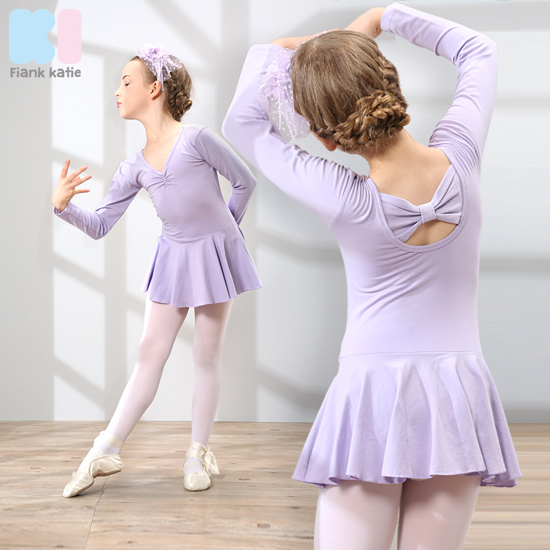 9e638e068799 USD 35.78  Spring and autumn children s dance clothing girls ...