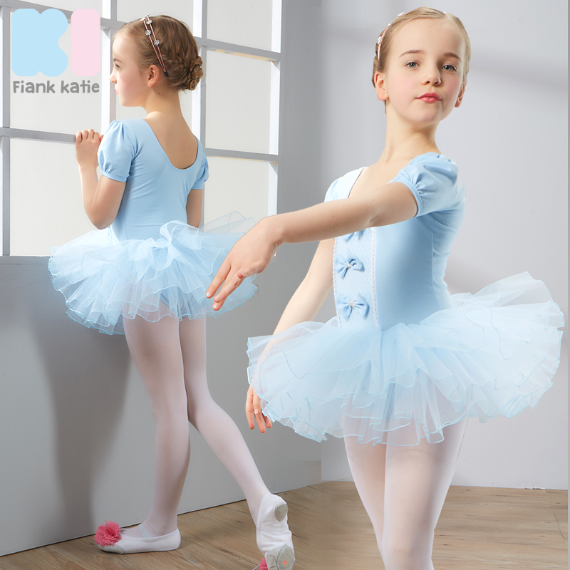 7ad210b53ee2 USD 48.72  Spring and summer children s dance costumes short-sleeved ...