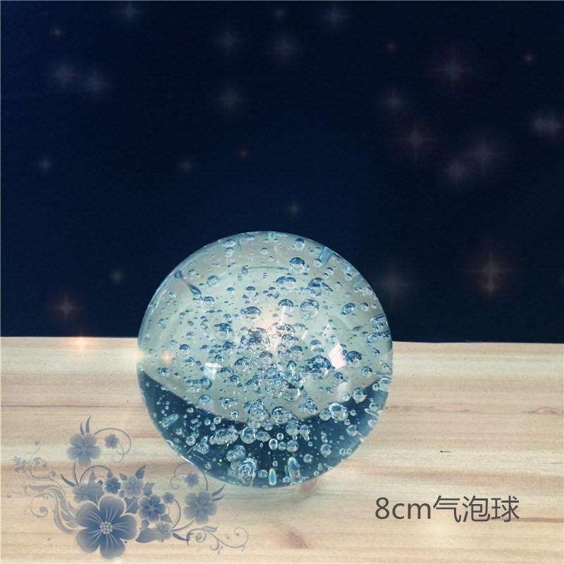玻璃球玻璃摆件水球配件假山山水包喷泉裂水晶球流水运球转动