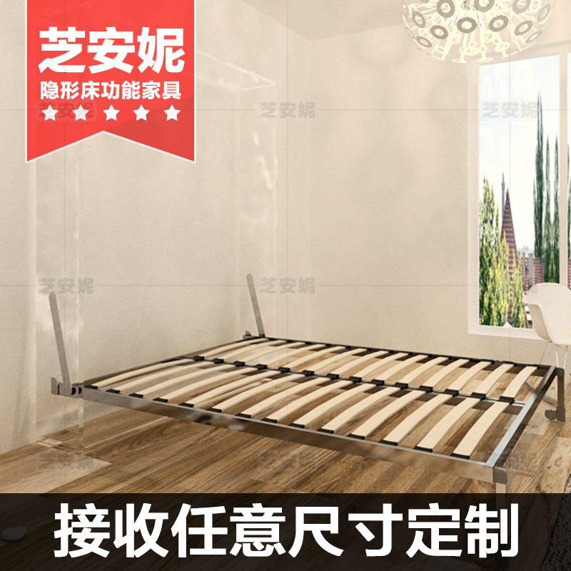 Multifunctional Invisible Bed Hardware Accessories Custom Folding Bed Automatic Foot Flap Bed Frame Murphy Bed Wall Cabinet Bed