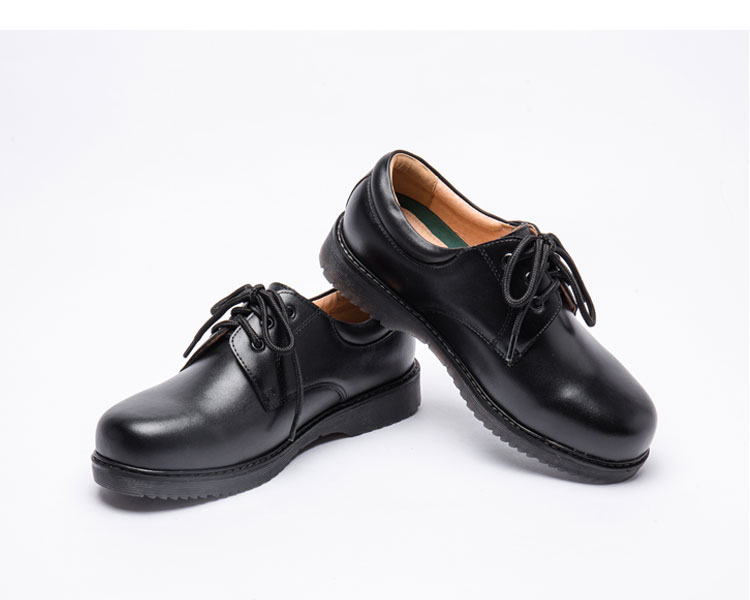 男士真皮皮鞋_香港buster中學生大尺碼鞋黑色皮鞋男兒童上學鞋表演正裝女童親子鞋