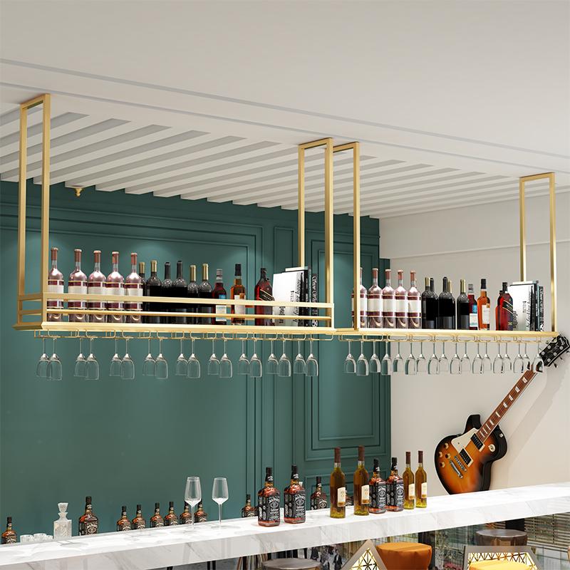 Trịnh thanh bar hanger treo rượu vang tủ rượu giá treo móc áo trang trí lưu trữ giá lộn ngược - Kệ