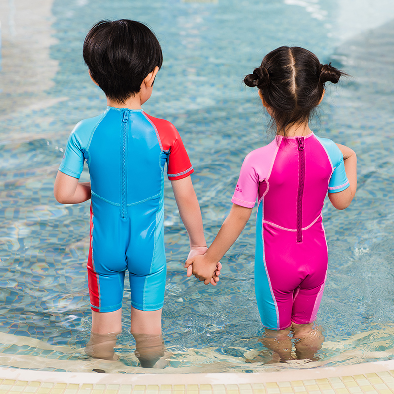 0e73824b18 ... Decathlon infant one-piece swimsuit autumn and winter warm shade cute  child boy girl NAB