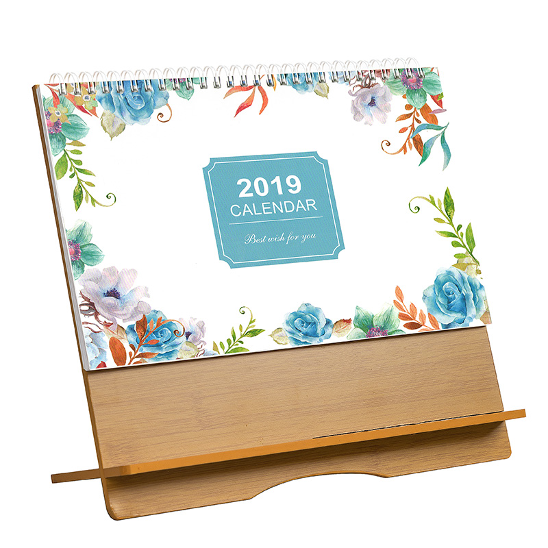 2019 Creative Folding House Desk Calendar Korean Stationery Small Fresh Multifunctional Calendar Desktop Storage A Wide Selection Of Colours And Designs Calendars, Planners & Cards