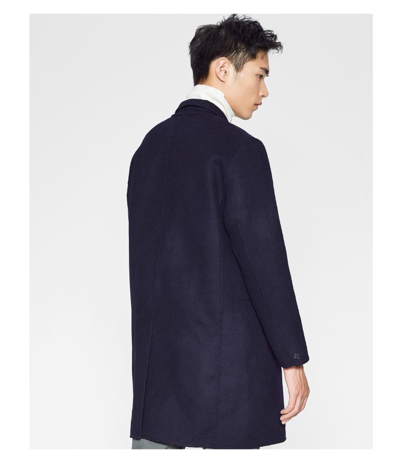 [聚] [Hao Yunxiang] MECITY nam hai mặt của người đàn ông áo len dài phần Hàn Quốc phiên bản