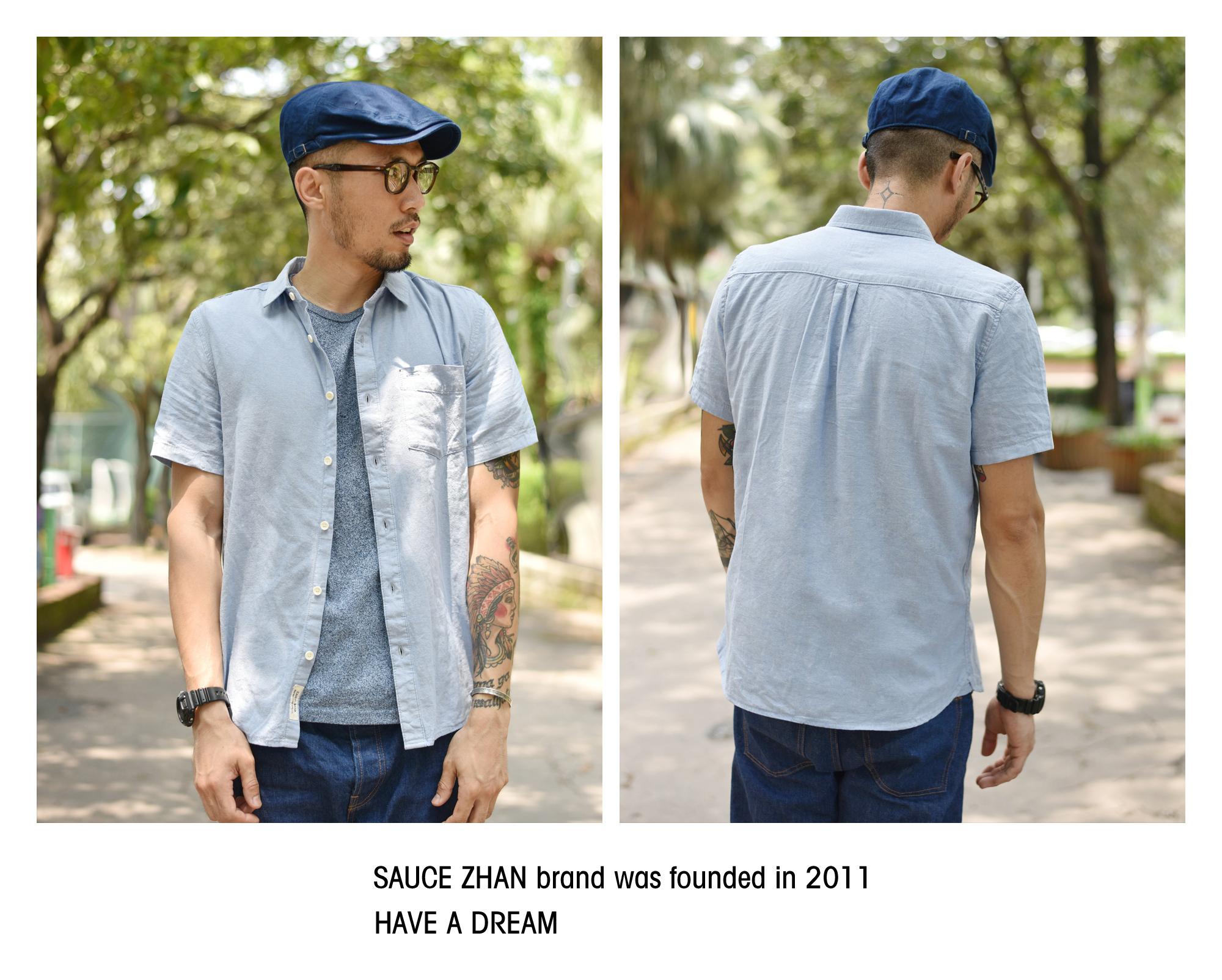 Sauce Summer men's shirt cotton short-sleeved shirt men's casual shirt men's slimmed-down Oxford spinning shirt 48 Online shopping Bangladesh