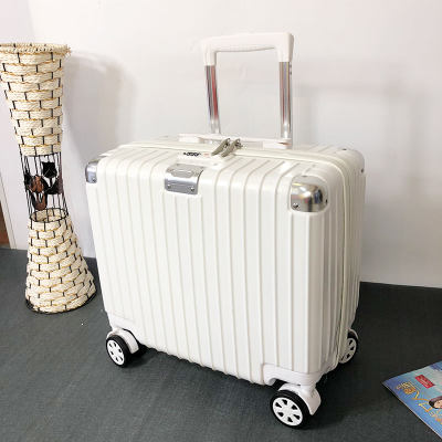 Mini travel trolley box female baggage box bag 18 small boarding net red INS leather light small password male