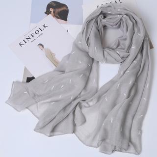 Дикий корейский осенью и зимой теплый пряжа полотенце шарфы весна женский длинный тонкие модельа модель льняная ткань шарф небольшой свежий серый, цена 527 руб