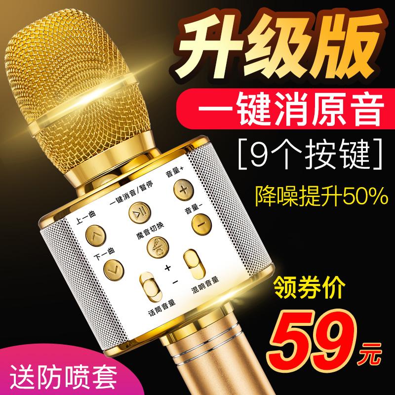 十盏灯 C1全民K歌神器手机麦克风无线蓝牙家用唱歌儿童话筒音响一体电脑台式电容麦全能麦全名安卓苹果通用