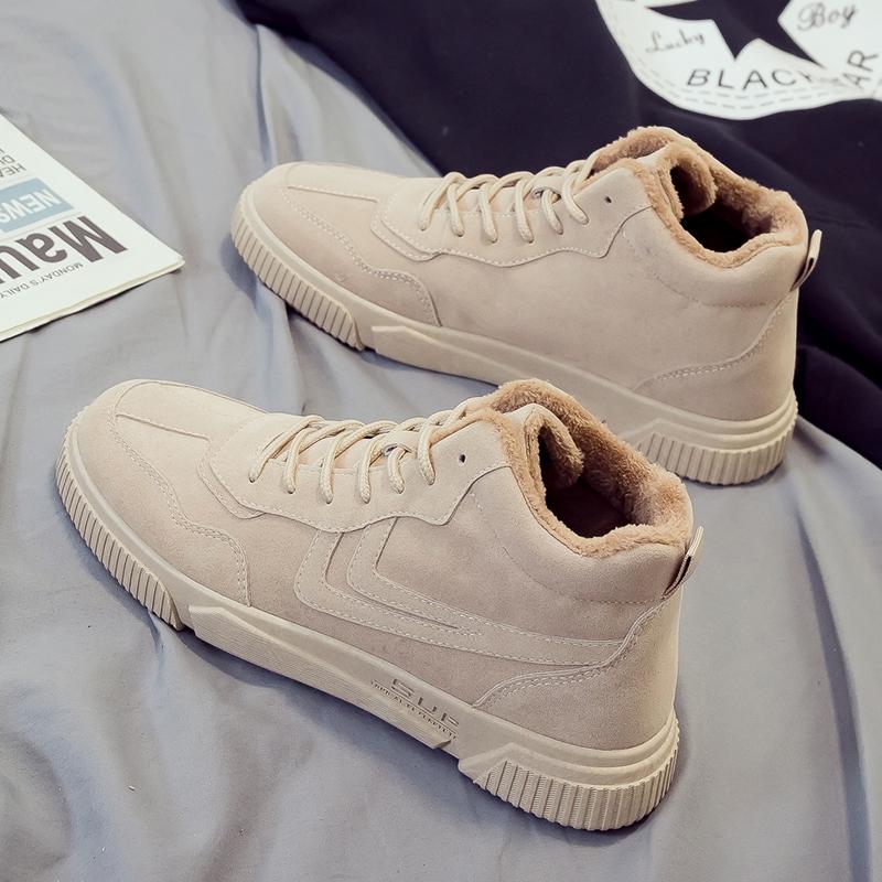高帮鞋韩版潮流男鞋潮鞋马丁靴中帮春季运动帆布板鞋加名牌1028f