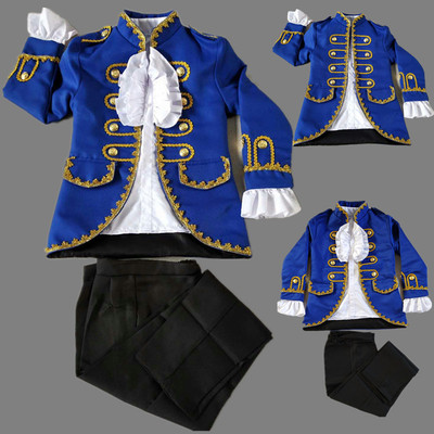 Boys Jazz Dance Costumes prince noble coat court performance suit, saxophone instrument performance suit chorus suit