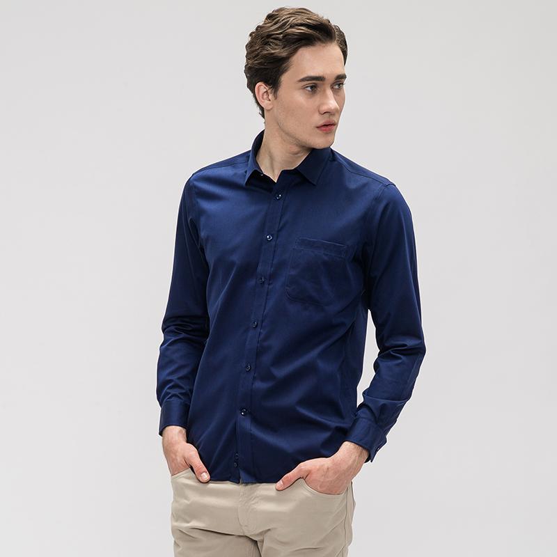 CK制造商:鲁泰佰杰斯 男士纯棉免烫衬衫