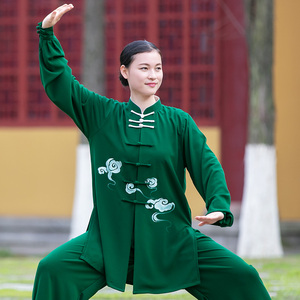 Tai chi clothing chinese kung fu uniforms Tai Chi Clothing clothing for women new elegant hand painted martial arts Tai Chi Clothingquan performance training clothing for men