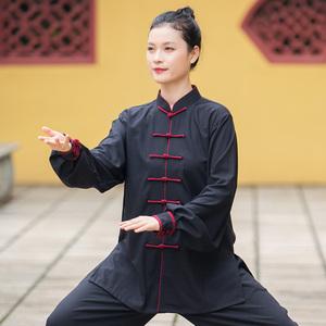 Tai chi clothing chinese kung fu uniforms Cotton hemp Tai Chi Clothing dress women new style elegant retro Tai Chi Clothingquan martial arts competition training clothing men Chinese style spring autumn winter