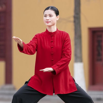 Tai chi clothing chinese kung fu uniforms Chen Jiagou women small button Tai Chi dress with standing collar