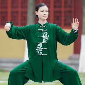 Women's new style elegant hand painted martial arts training clothing competition performance clothing