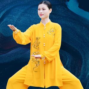 Tai chi clothing chinese kung fu uniforms Women new elegant Tai Chi Clothingquan performance Costume