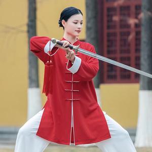Tai chi clothing chinese kung fu uniforms Women new style elegant Tai Chi Clothingquan training clothes men long fashion Chinese style