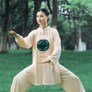 Tai chi clothing chinese kung fu uniforms New style of Tai Chi Clothingquan women spring elastic clothing
