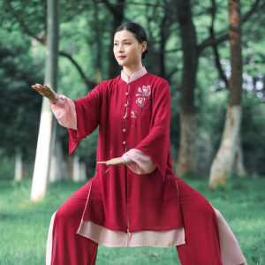 Tai chi clothing chinese kung fu uniforms Women new style elegant Tai Chi Clothingquan training clothing
